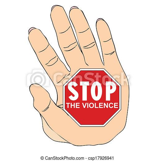 vecteur eps de arr234t violence contre femmes csp17926941