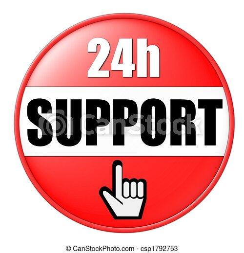 24h support button red - csp1792753