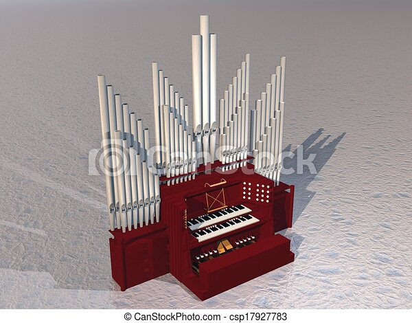 Organ Pipes Drawing Pipe Organ 3d Render