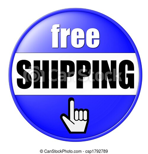 free shipping button blue - csp1792789