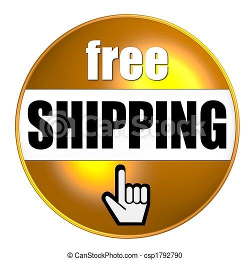 free shipping button gold - csp1792790