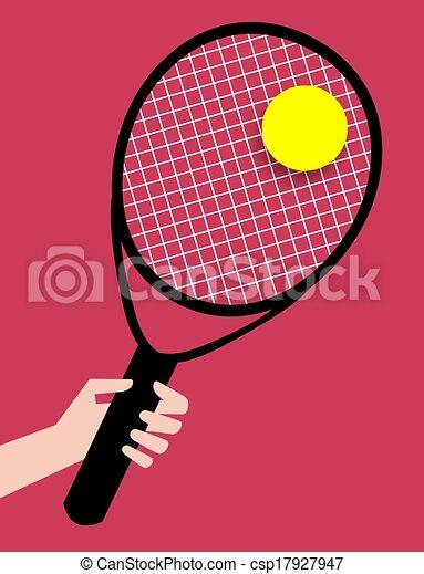 Dessin de raquette tennis illustration de a - Dessin raquette ...