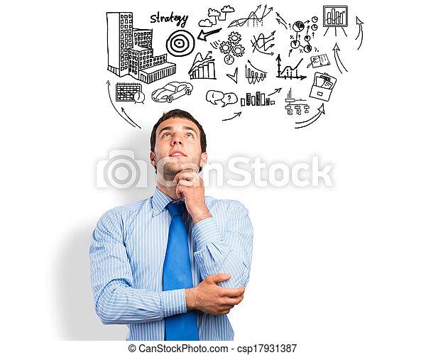 thinking business man - csp17931387