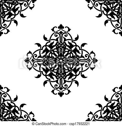 Illustration Vecteur De D 233 Coratif Fractal Arabe Ou Musulman Style Vecteur Csp17932221