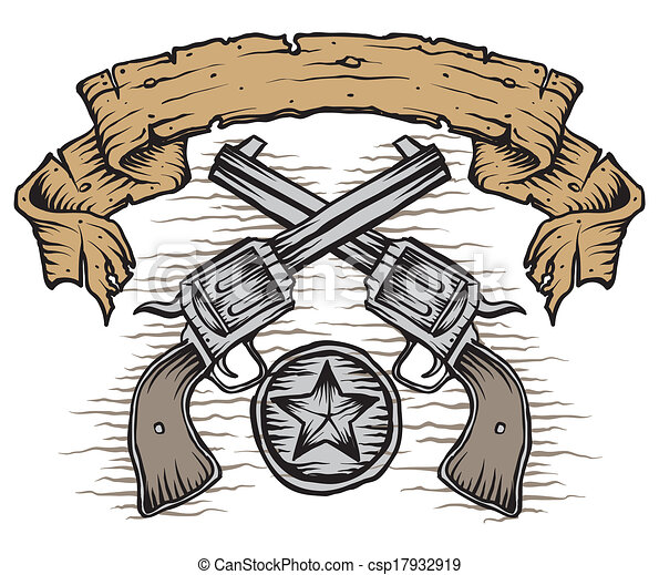 Guns Logo Vector Vector Western Guns