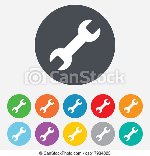 Repair tool sign icon. Service symbol. - csp17934825