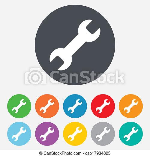 Repair tool sign icon. Service symbol. - csp17934825
