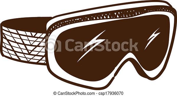Ski Goggles Vector Ski Glasses Goggles Isolated