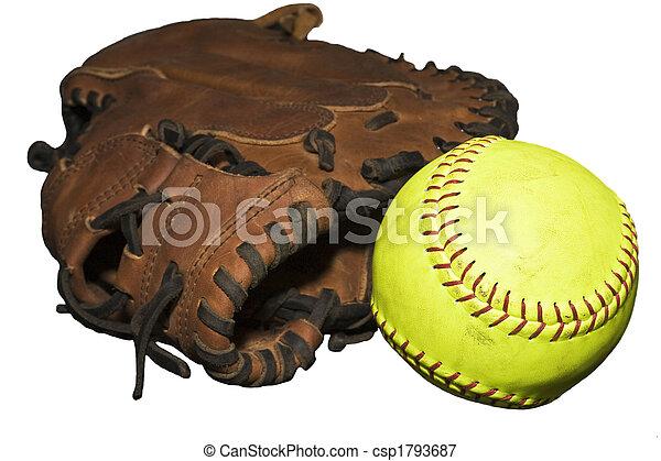 Catcher's Glove and Softball - csp1793687
