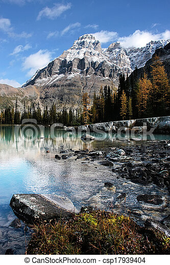 Mount Huber and Opabin Plateau, Yoho National Park, Canada - csp17939404