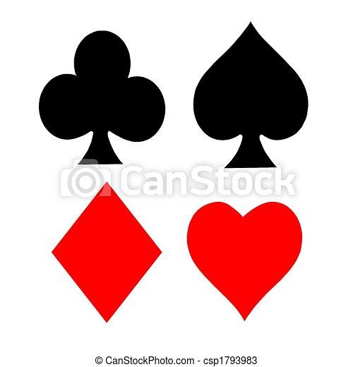 Playing Card Symbols - csp1793983