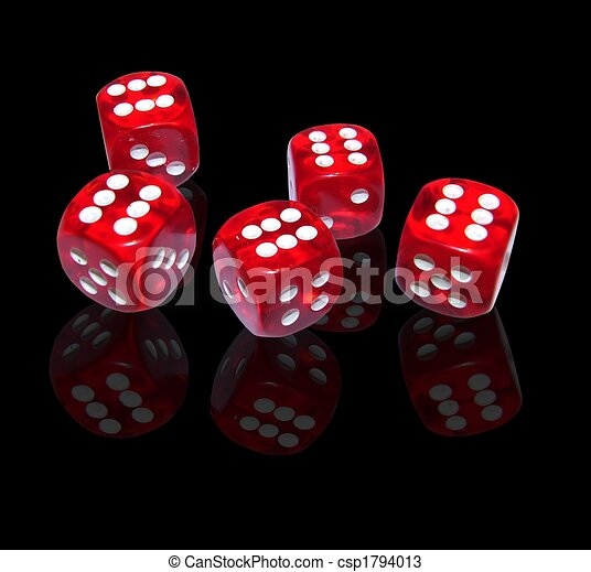 gambling with red dice - csp1794013