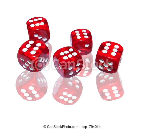 gambling with red dice - csp1794014