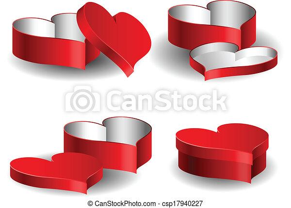 Heart Shaped Box Drawing Heart Shaped Box Set For