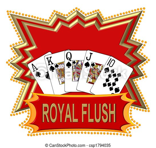 Royal Flush Logo red - csp1794035