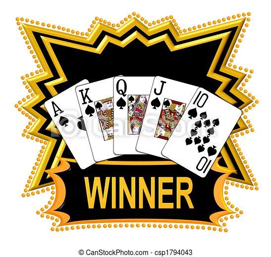 Royal Flush Winner - csp1794043
