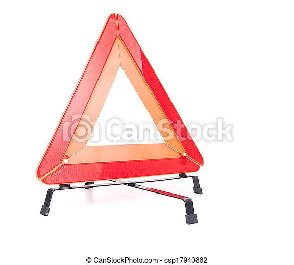 Car emergency sign isolated on white background - csp17940882