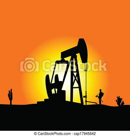EPS Vector of oil well color vector illustration ...  EPS Vector of o...