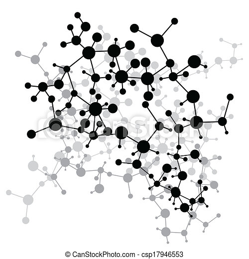 Clipart Vector of Abstract molecules medical background (Vector ...