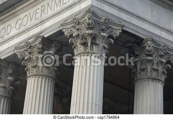 建築物,  Corinthian, 欄, 政府 - csp1794864