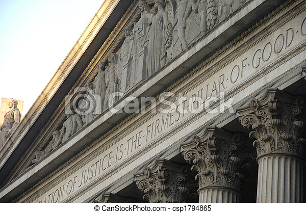 Corinthian columns on a government building - csp1794865