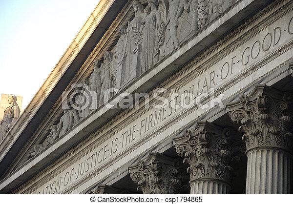 Corinthian columns on a government building - csp1794865