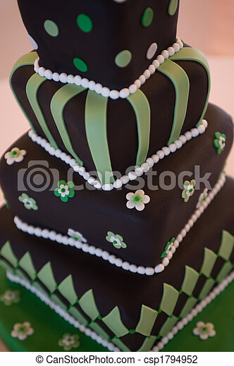 Mad hatter wedding cake - csp1794952