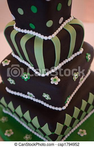 Mad hatter wedding cake - csp1794952