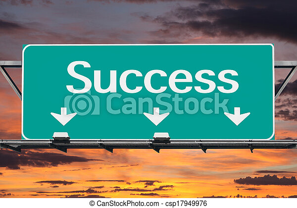 Freeway to Success Road Sign - csp17949976