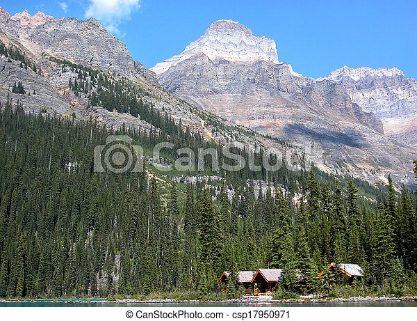 Wooden cabins at Lake O'Hara, Yoho National Park, Canada - csp17950971