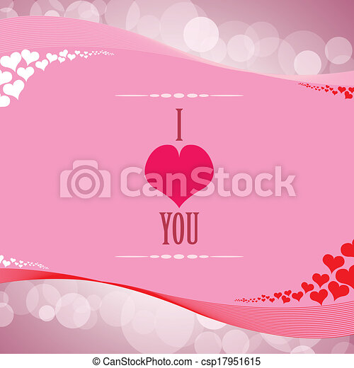 Valentine's day background with hearts - csp17951615