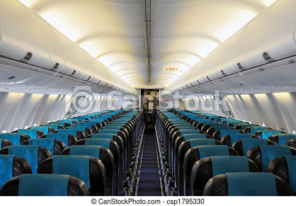 Photographies de int rieur passager avion ligne vide for Interieur avion