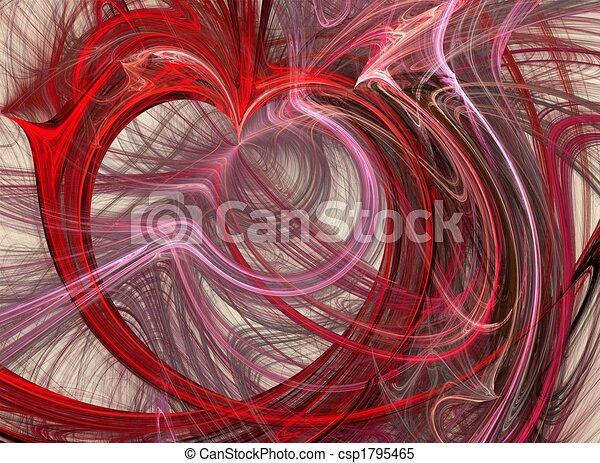 Stock illustraties van chaotisch gevoel mooi fractal van een rood hart csp1795465 - Ongewoon behang ...
