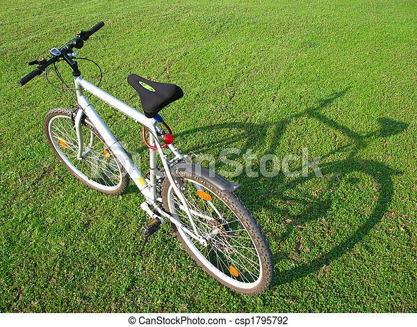 Bicycle in green 5 - csp1795792