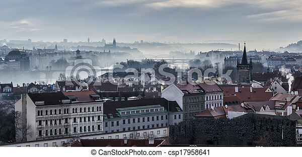 Panorama of bridges on the Vltava - csp17958641