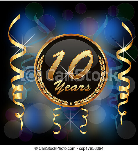 10 years anniversary party - csp17958894