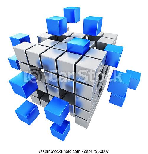 Business teamwork, internet and communication concept - csp17960807