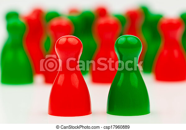 red-green coalition government - csp17960889