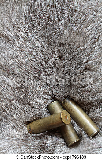 Cartridges on fur - csp1796183