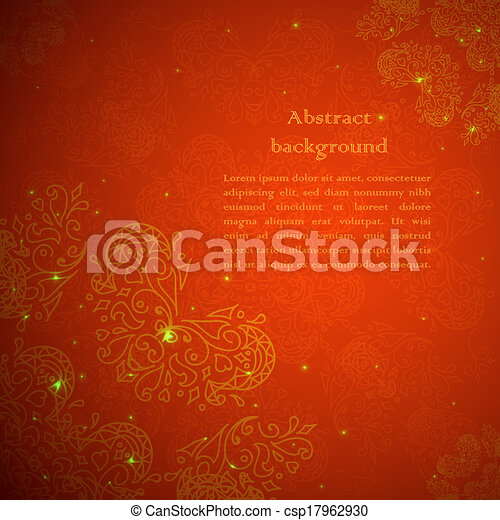 Red ornament background - csp17962930