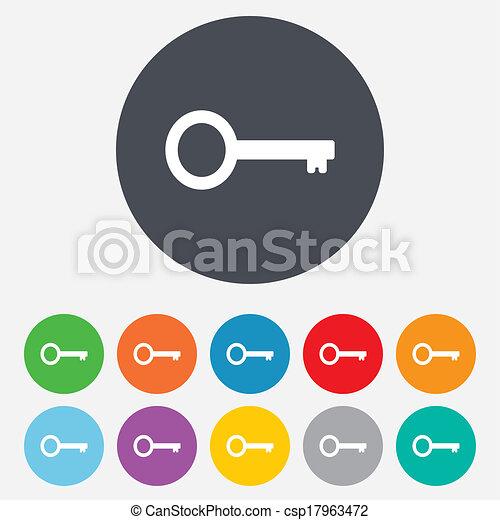 Key sign icon. Unlock tool symbol. - csp17963472