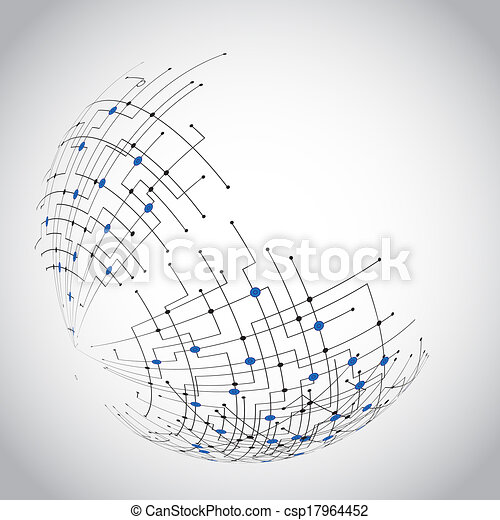 Abstract technology globe - csp17964452
