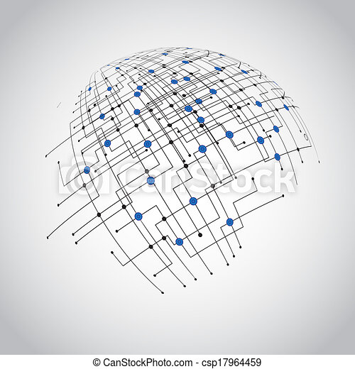 Abstract technology globe - csp17964459