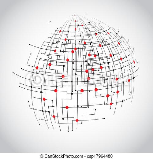 Abstract technology globe - csp17964480