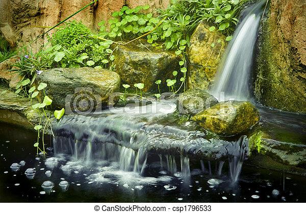 Stock de fotos de zen jard n japon s jard n cascadas for Cascadas jardin zen