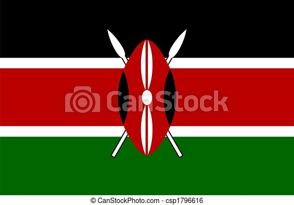 Flag of Kenya  - csp1796616