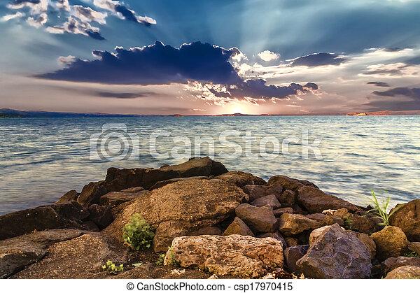 Sunrise at Bolsena Lake (Italy) - csp17970415