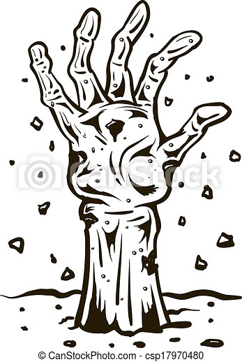 Vector Of Zombie Hand Coming Out Of Grave Csp17970480