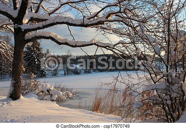 Frozen lake - csp17970749