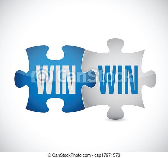 win win puzzle illustration design - csp17971573